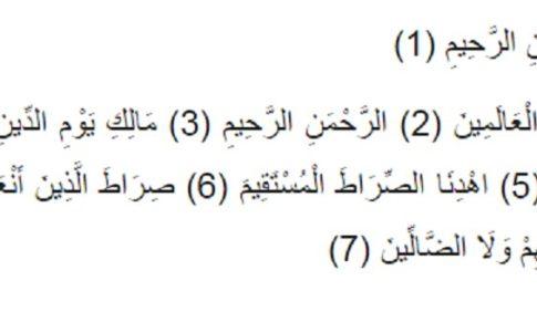 Surah Fatiha Transliteration Tafseer