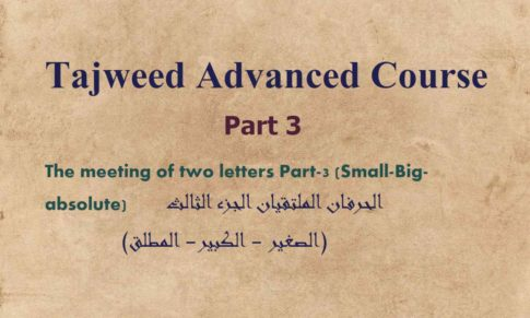 The meeting of two letters Part-3 (Small-Big-absolute)