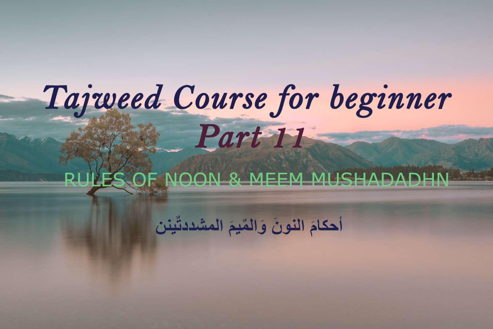 RULES OF NOON & MEEM MUSHADADH