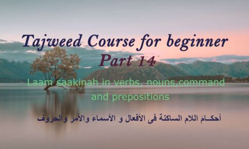 The Laam saakinah in verbs, nouns, command and participles